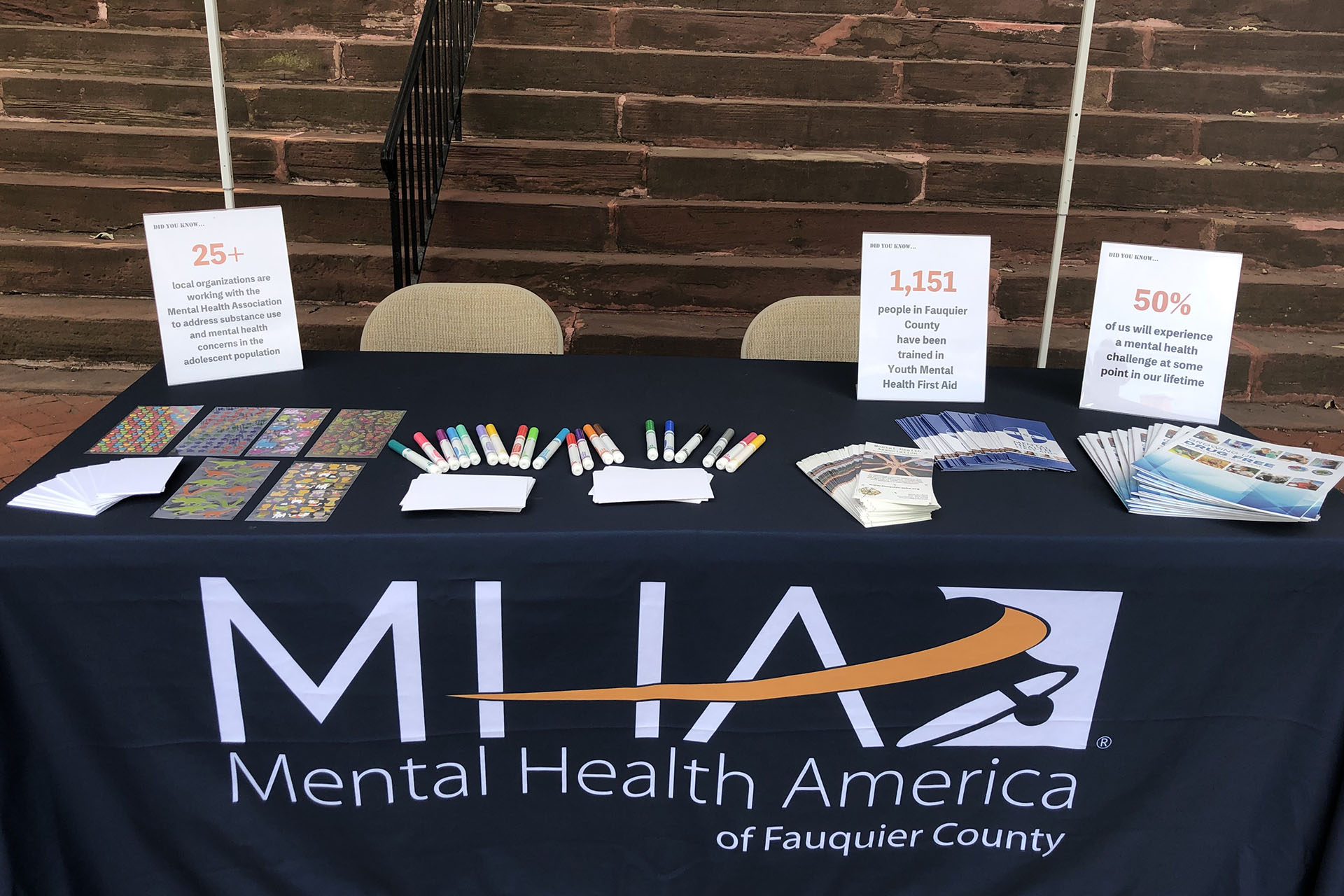 Mental Health Association of Fauquier Vendor Table