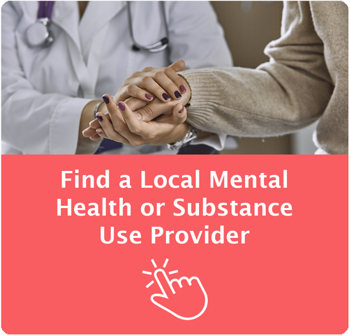 Mental Health / Substance Use Treatment Providers - icon image points to treatment provider directory